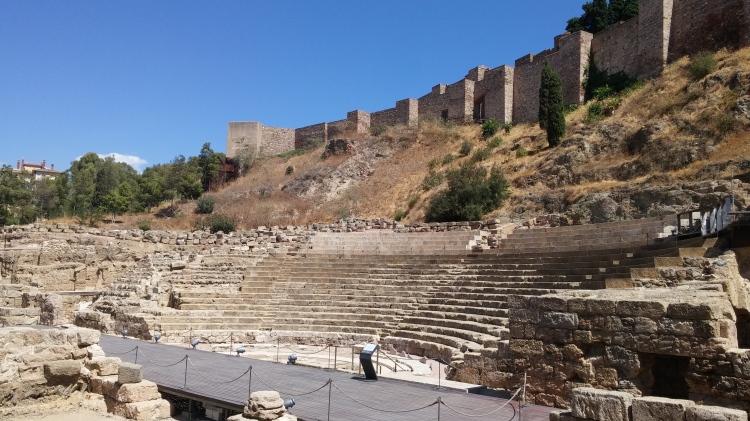 Malaga - il teatro Romano e l'Alcazaba